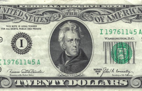 Picture note, Jackson, america, states, dollars, united, federal, reserve