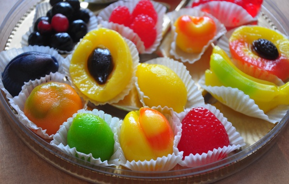 Picture berries, food, candy, fruit, bright, sweet, marmalade, sweet, krasovo