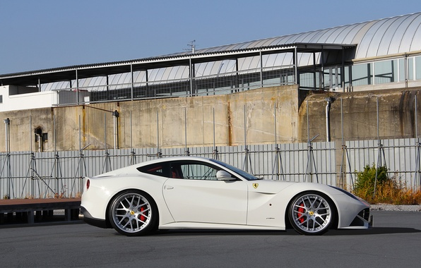 Picture profile, white, ferrari, Ferrari, drives, Berlinetta, f12 berlinetta, Beli