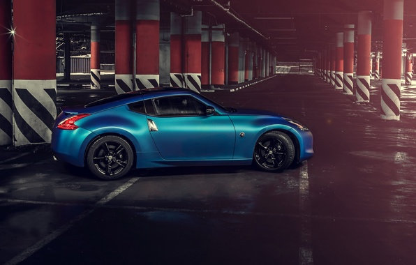Picture car, blue, hq Wallpapers, nissan 370z
