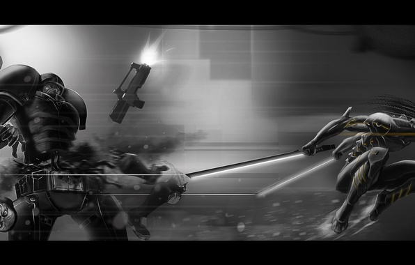 Picture soldiers, warhammer 40k, swords, creature, mutilation