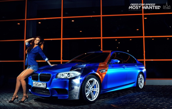 Picture girl, bmw, BMW, legs, blue, nfs, most wanted, smotra