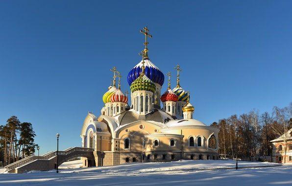 Picture Moscow, Russia, Russia, The temple of the Holy Nobleborn Prince Igor of Chernigov