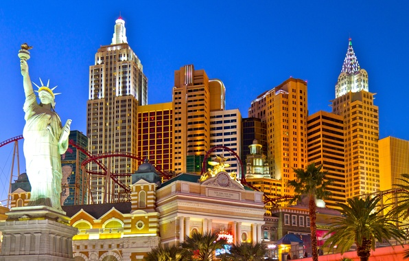 Picture the sky, freedom, lights, Palma, the game, New York, Las Vegas, statue, USA, the excitement, ...