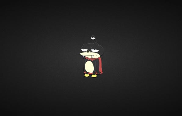Picture minimalism, black background, futurama, futurama, Nibbler, the little three-eyed alien, Nibbler, Nibbler