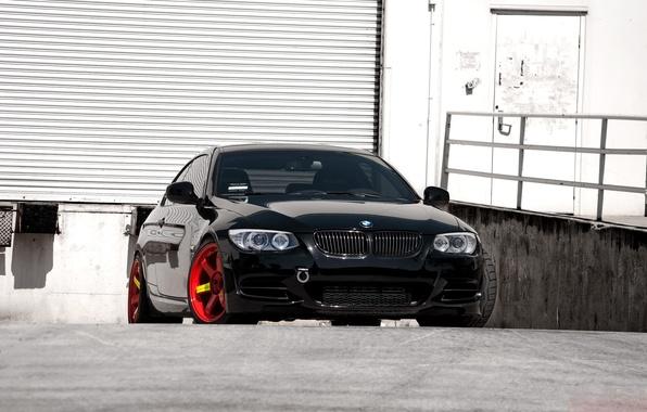 Picture BMW, Red, Black, 335i, E92