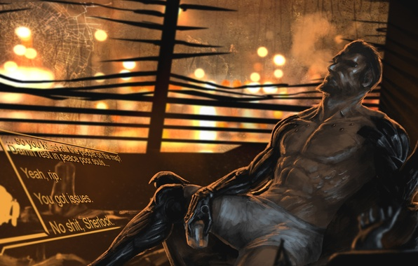 Picture cyborg, art, deus ex, Adam Jensen, Deus Ex: Mankind Divided