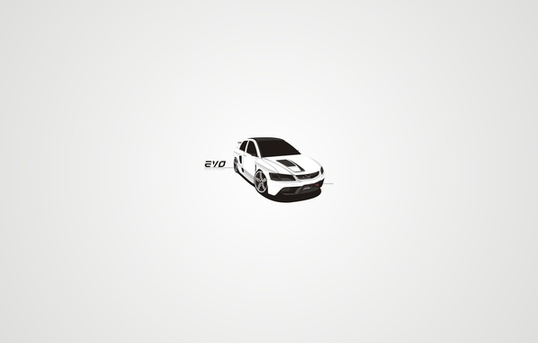 Picture vector, Lancer, style, tuning, art, coupe, EVO