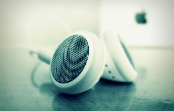 Picture apple, headphones, headphones, deepho