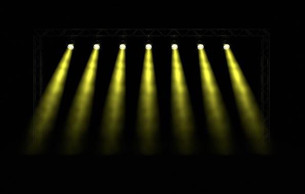 Picture light, smoke, yellow, holes