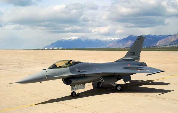 Picture aviation, Wallpaper, fighter, f16, lockheed