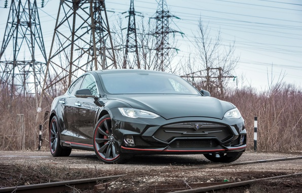 Picture Tesla, Model S, Tesla, electric car, Larte Design