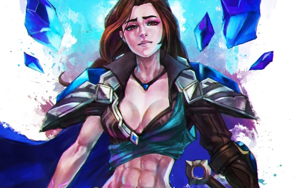 Picture girl, art, League of Legends, taric, moba