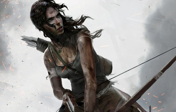 Picture Girl, Bow, Tomb Raider, Lara Croft, Lara Croft, Arrow, Definitive Edition, Tomb Raider: Definitive Edition