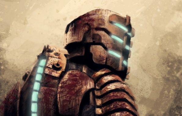 Picture art, helmet, armor, dead space, Isaac Clarke