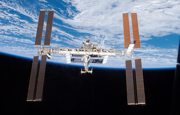 Picture planet, Earth, ISS, space station