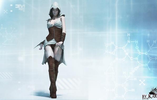 Picture look, girl, rendering, Assassin, assassin