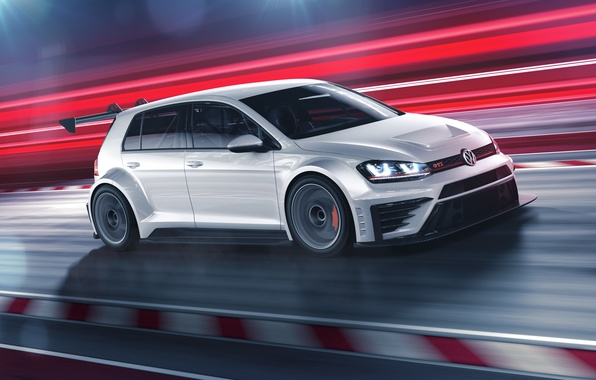 Picture in motion, GTI, Volkswagen Golf, TCR