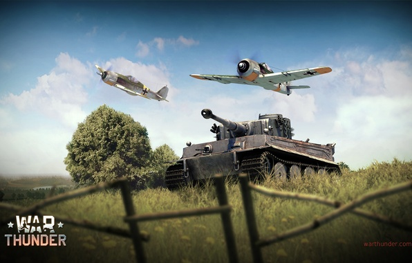 Picture Tiger, fighter, tank, Tiger, offensive, German, piston, single-engine, Focke-Wulf, Focke-Wulf, heavy, War Thunder, Panzerkampfwagen VI, …
