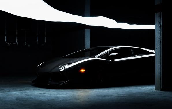 Picture Lamborghini, Lamborghini, black, black, Lamborghini, LP700-4, Aventador, Aventador