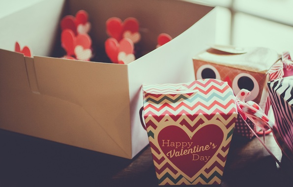 Picture holiday, box, heart, gifts, heart, Valentine's day, Valentine's day