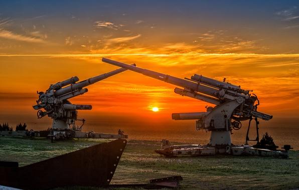 Picture war, gun, gun, second, world, Anti-aircraft gun, FlaK 36, 88-mm anti-aircraft