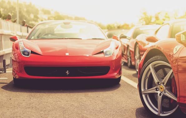 Picture car, auto, red, red, sports car, ferrari, Ferrari