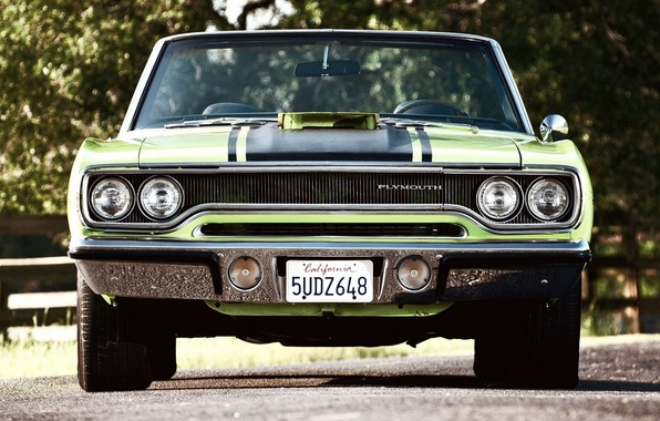 Picture Green, Machine, Car, Beautiful, Green, 1970, Plymouth, Wallpapers, Beautiful, Convertible, Plymouth, Wallpaper, Road Runner, Automobiles, …