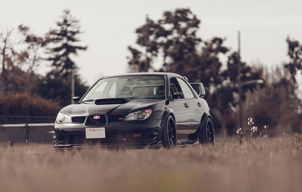 Picture car, machine, tuning, black, subaru, wrx, impreza, tuning, Subaru, sti
