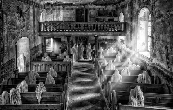 Picture Windows, Cathedral, Wallpaper, Temple, Background, Church, Miscellanea, People, Situation, Benches, Prayer, Black and White Photography, …