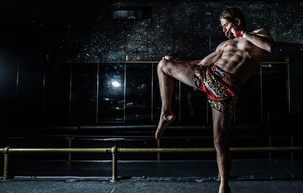Wallpaper Fighter Muay Thai Shadow Fight Images For Desktop