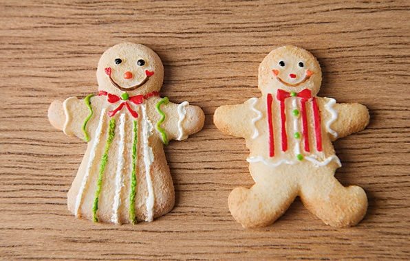 Picture table, holiday, new year, food, boy, food, girl, wooden, new year, smile, delicious, Christmas cookies, …