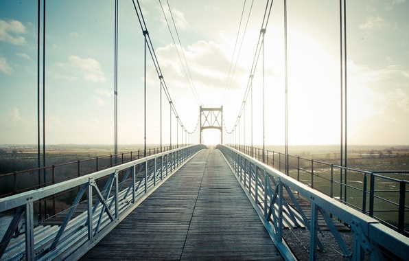 Picture the sky, clouds, landscape, bridge, nature, city, the city, background, widescreen, Wallpaper, wire, dal, wallpaper, …