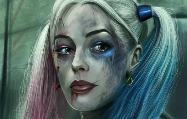 Picture art, Harley Quinn, Margot Robbie, Suicide Squad, Margo Robbie, A detachment of samoubiyc