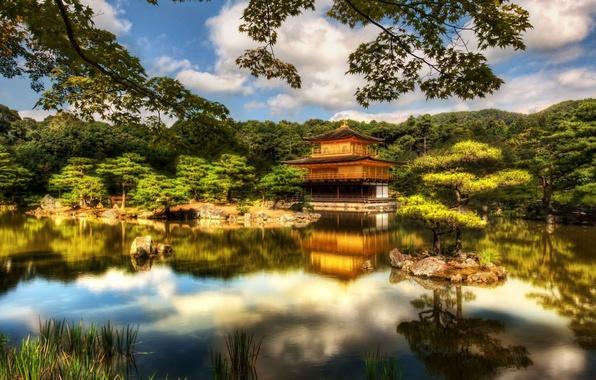 Picture Japan, temple, Japan, Kyoto, Temple, Pavilion, Golden