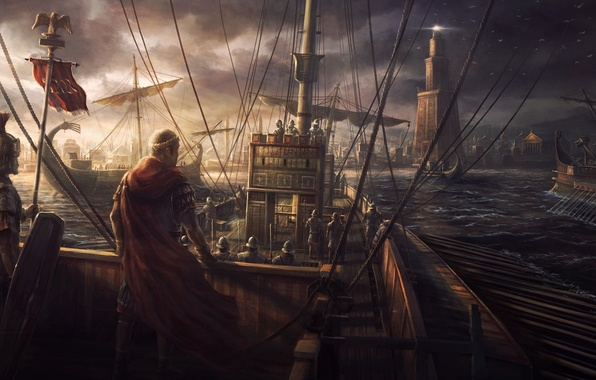 Picture game, seagulls, ships, Egypt, rome, Rome, army, total war, the Romans, total war : rome …
