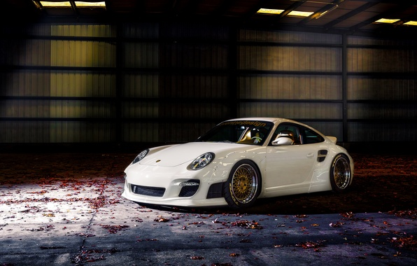 Picture 911, white, porsche, tuning