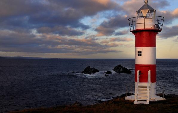 Picture rocks, coast, lighthouse, Canada, Canada, The Atlantic ocean, Atlantic Ocean, Newfoundland and Labrador, Newfoundland and …