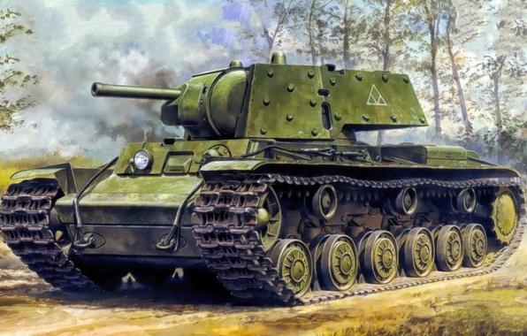 wallpaper war art painting tank ww2 kv 1 kliment voroshilov tank images for desktop. Black Bedroom Furniture Sets. Home Design Ideas
