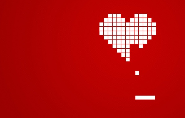 Picture red, cubes, heart