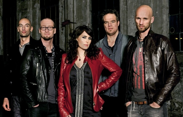Picture dark, metal, blue, Rock, promo, symphonic, sharon den adel, within temptation, the unforgiven