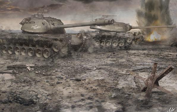 Picture tank, USA, USA, tanks, WoT, World of tanks, tank, World of Tanks, tanks, M103, Wargaming.Net, …