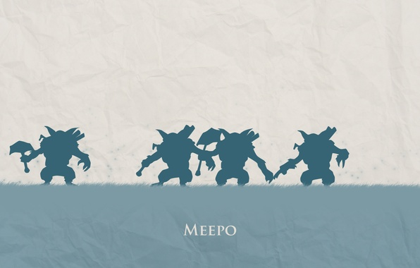 Picture blue, minimalism, hero, hero, Defense of the Ancients, DotA 2, brother brother, Geomancer, geomancer, meepo, …