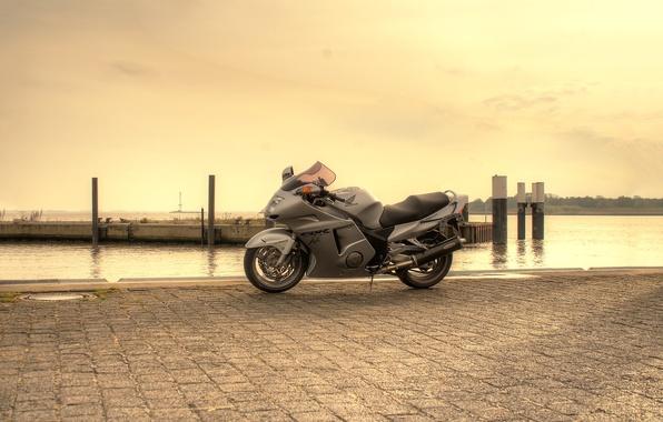 Picture the sky, grey, pier, motorcycle, honda, bike, Honda, cbr1100xx