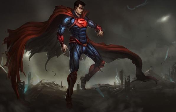 Wallpaper Clark Kent, DC Comics, superman, kryptonian, art ...