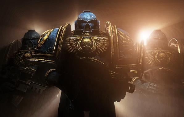 Picture armor, helmet, armor, 000, power, ultramarines, Warhammer 40, visor, Space Marines