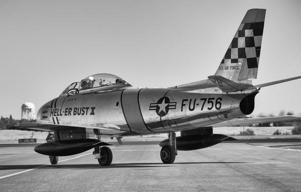 Picture fighter, jet, Sabre, F-86