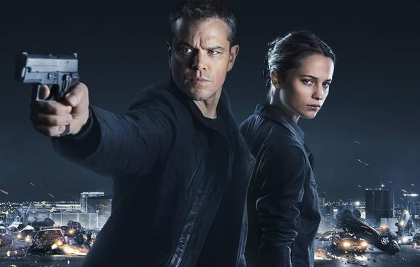 Picture Matt Damon, Matt Damon, Alicia Vikander, Alicia Vikander, Jason Bourne, Jason Bourne