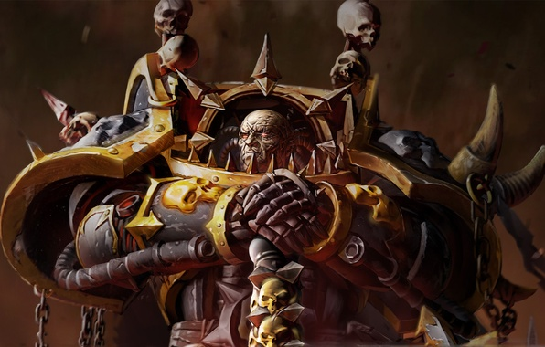 Picture eyes, spark, Warhammer, 40000, chaos, space Marines, Dawn of War 2, armor