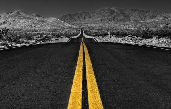 Picture road, the sky, asphalt, line, landscape, horizon